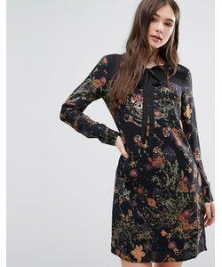 Lavand. | Платье С Цветочным Принтом И Завязкой У Горловины Lavand