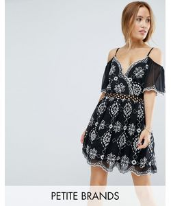 Miss Selfridge Petite | Платье С Открытыми Плечами И Вышивкой