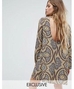 Reclaimed Vintage | Свободное Платье С Завязкой На Спине И Принтом Пейсли