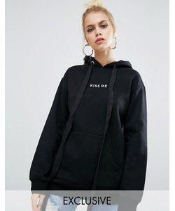 Adolescent Clothing | Oversize-Худи Бойфренда С Вышивкой Kiss