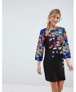 Asos | Свободное Платье Мини С Цветочным Принтом