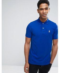 PSYCHO BUNNY | Синяя Футболка-Поло С Логотипом