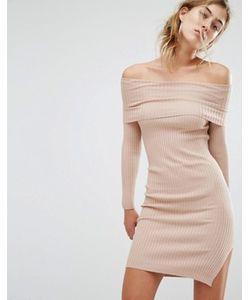Parallel Lines | Платье-Джемпер С Открытыми Плечами