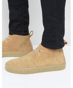 Asos | Песочные Замшевые Ботинки Чукка На Шнуровке