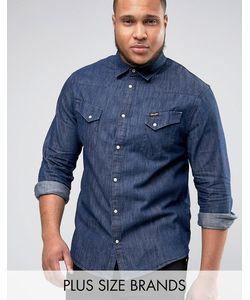 Wrangler | Выбеленная Рубашка Цвета Индиго В Стиле Вестерн Plus