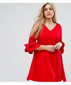 Praslin   Платье С V-Образным Вырезом И Рукавами Клеш