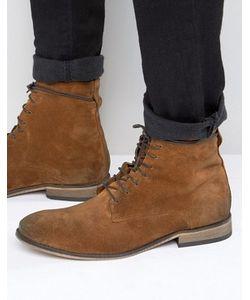 Asos   Светло-Коричневые Замшевые Ботинки С Натуральной Подошвой