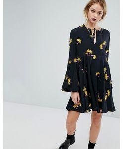 Sportmax Code | Платье С Цветочным Принтом И Завязкой