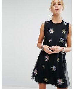 Sportmax Code | Платье-Трапеция С Декоративной Отделкой