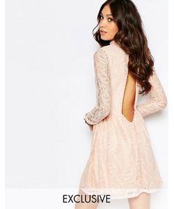 Rokoko | Платье С Высокой Горловиной И Открытой Спиной