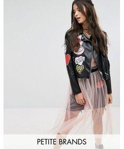Glamorous Petite | Байкерская Куртка Из Искусственной Кожи