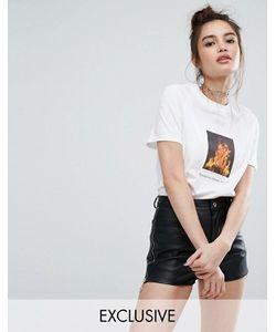 Adolescent Clothing | Футболка Бойфренда С Принтом Hotter Than Hell