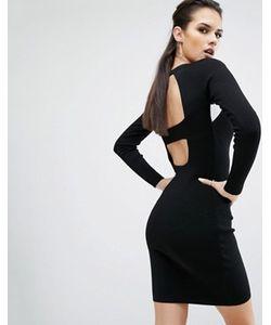 KENDALL + KYLIE | Платье С Длинными Рукавами И Вырезами На Спине