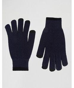 Asos | Темно-Синие Фактурные Перчатки