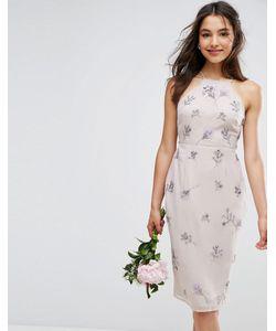 Asos | Платье Миди С Драпировкой Сзади Wedding