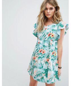 Motel   Свободное Платье С Гавайским Цветочным Принтом