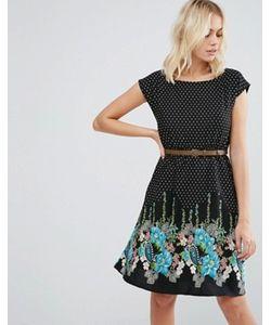 Yumi | Короткое Приталенное Платье С Принтом