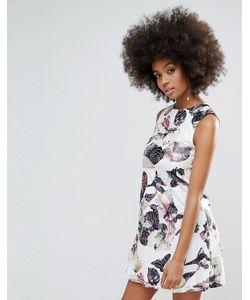 AX Paris   Цельнокройное Платье С Цветочным Принтом