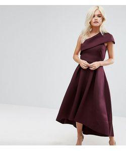 ASOS PETITE | Приталенное Платье Миди На Одно Плечо