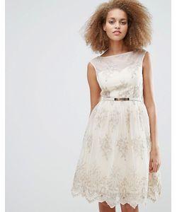 Little Mistress | Приталенное Платье С Вышивкой