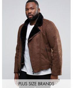 Barney's Originals | Байкерская Куртка Из Искусственной Овчины Barneys Plus