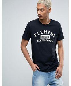 Element | Черная Футболка С Логотипом И Надписью Skateboards