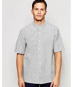 ADPT | Рубашка В Полоску Из Ткани Сирсакер С Короткими Рукавами Co-Ord