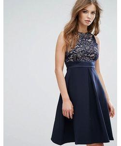 Vesper | Приталенное Платье Миди С Кружевным Лифом