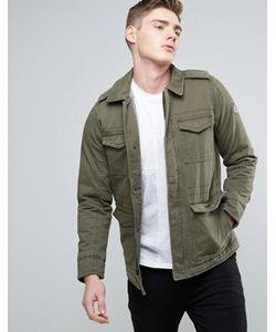 Hollister | Саржевая Куртка Оливкового Цвета В Стиле Милитари M65
