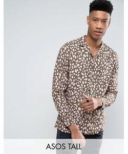 Asos | Рубашка Из Вискозы Классического Кроя С Леопардовым Принтом Tall