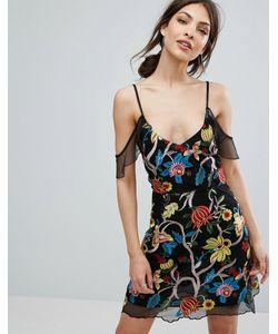 MISSGUIDED | Платье Мини С Вышивкой Premium