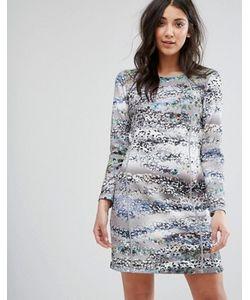 Lavand. | Цельнокройное Платье С Принтом И Рукавами 3/4 Lavand
