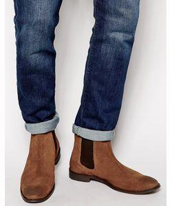 Asos | Коричневые Замшевые Ботинки Челси С Петлей На Заднике Рыжий