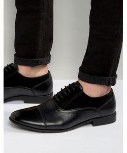 Asos | Черные Оксфордские Туфли Из Искусственной Кожи И Замши
