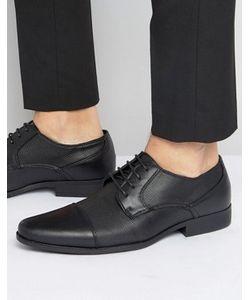 Asos | Черные Туфли Дерби Из Искусственной Кожи С Фактурной Отделкой
