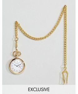 Reclaimed Vintage | Золотистые Карманные Часы С Дополнительным Циферблатом