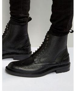 Dead Vintage | Черные Кожаные Ботинки-Броги