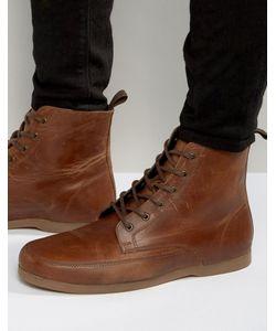 Asos | Коричневые Кожаные Ботинки На Шнуровке