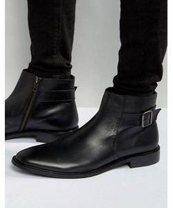 Dune | Черные Кожаные Ботинки Челси С Пряжкой