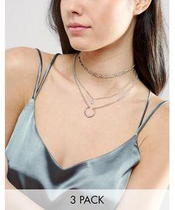 Asos | 3 Ожерелья-Чокер С Подвесками