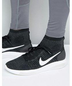 Nike Running | Черные Кроссовки Nike Lunarepic Flyknit 818676-007