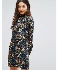 Greylin | Платье С Цветочным Принтом И Завязкой У Горловины Breann