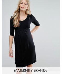 Isabella Oliver | Короткое Приталенное Платье Со Складками Спереди
