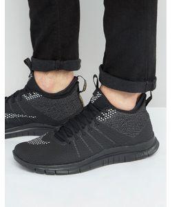 Nike | Черные Кроссовки Free Hypervenom 747140-007