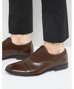 Asos | Коричневые Оксфордские Туфли Из Искусственной Кожи