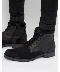 Jack & Jones | Кожаные Ботинки На Шнуровке Hanibal