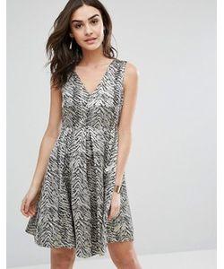 Y.A.S. | Короткое Приталенное Платье С Принтом Y.A.S