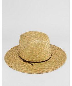 Catarzi | Соломенная Шляпа С Кожаной Тесьмой
