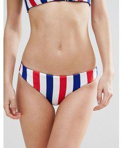 Bikini Lab   Двусторонние Плавки-Бикини С Принтом В Полоску