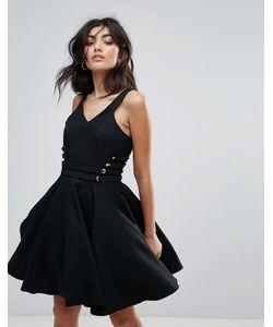 FOREVER UNIQUE | Короткое Приталенное Платье Для Выпускного С V-Образным Вырезом